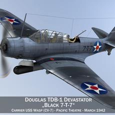 Douglas TDB-1 Devastator - 7T7 3D Model