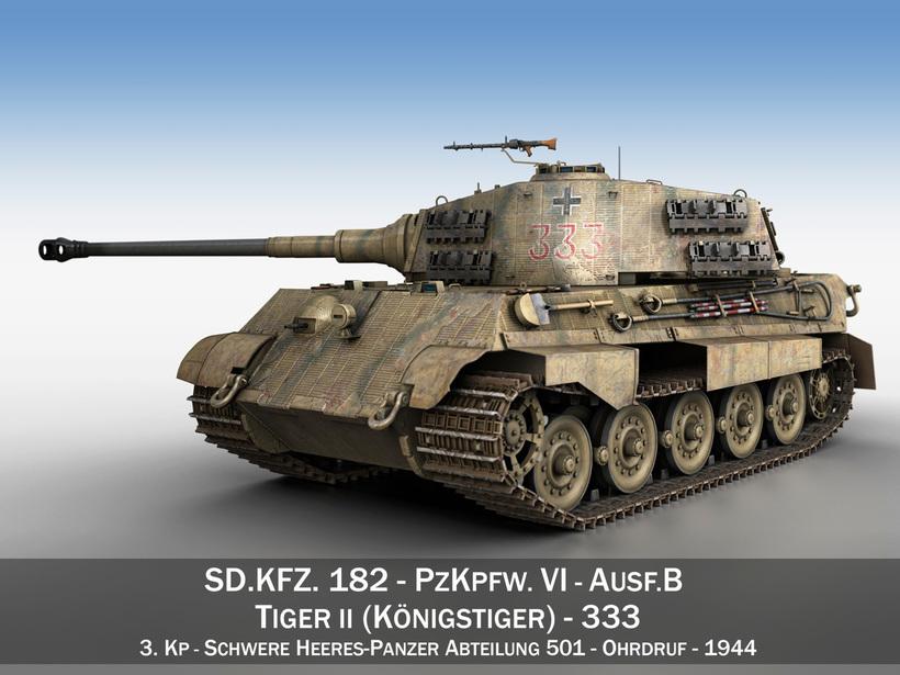 Panzerkampfwagen VI - Ausf.B - Tiger II - 333 3D Model