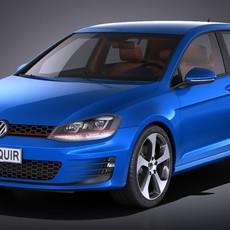 Volkswagen Golf VII GTI 2017 3D Model