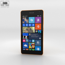 Microsoft Lumia 535 Orange 3D Model