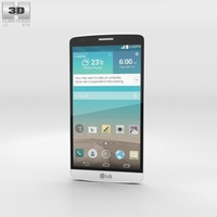 LG G3 A White 3D Model
