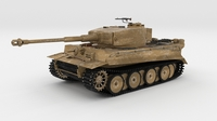 Panzer Tiger Tank Early 3D Model