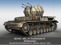 Flakpanzer IV - Wirbelwind - s.SS-PzAbt.102 3D Model