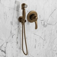 Bronze hand shower with mixer 3D Model