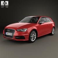 Audi S3 3-door 2014 3D Model