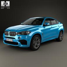 BMW X6 M 2014 3D Model