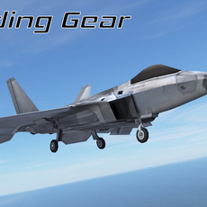 Mobile Low Poly F22 Raptor 3D Model
