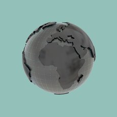 Earth lowpoly for motiongraphics 3D Model