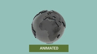 Earth low-poly // unfold animation FX 3D Model