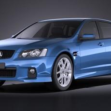 Holden VE II Commodore Sportwagon SSV 2011 VRAY 3D Model