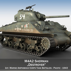 M4A2 Sherman - Destroyer 3D Model