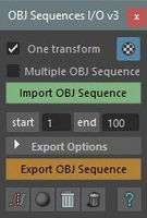 OBJ Sequences Import/Export 3.0.0 for Maya (maya script)
