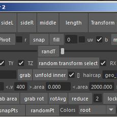 Hair grabber for Maya 2.9.9 (maya script)