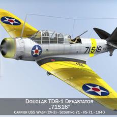 Douglas TDB-1 Devastator - 71S16 3D Model