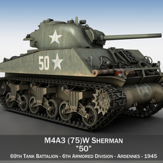 M4A3 75mm - Sherman - 50 3D Model