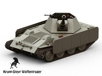 Krupp-Steyr Waffentrager Pak43 3D Model