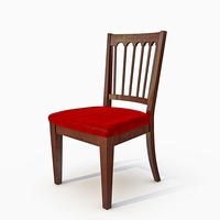 dining upholstered chair 3D Model