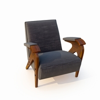 armchair velvet coating 3D Model