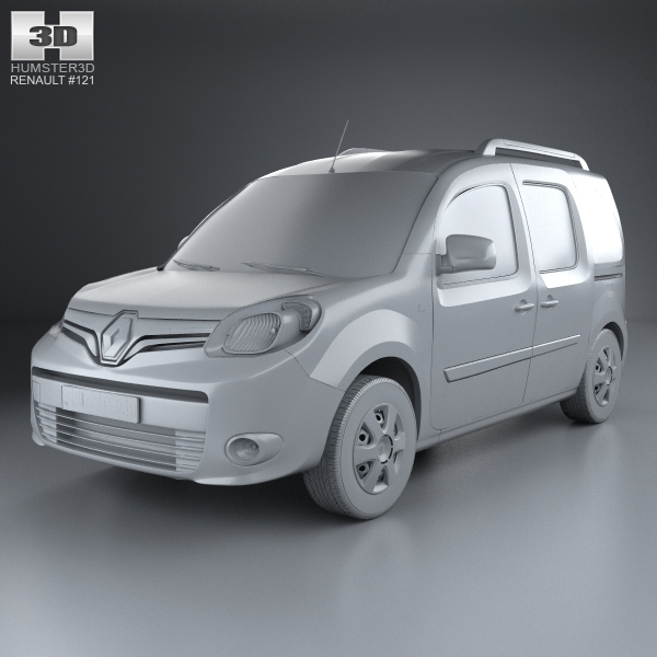 renault kangoo 2014 3d model. Black Bedroom Furniture Sets. Home Design Ideas