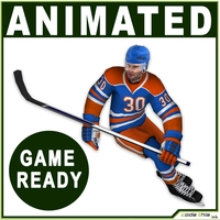 Hockey Player Real-Time 3D Model