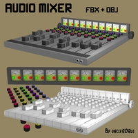 Audio Mixer FBX_OBJ 3D Model