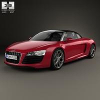 Audi R8 Spyder 2013 3D Model