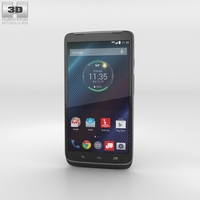 Motorola Droid Turbo Metallic Black 3D Model
