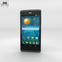 Acer Liquid Z500 Titanium Black 3D Model