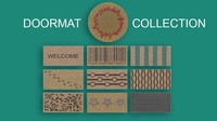 Doormats collection 3D Model