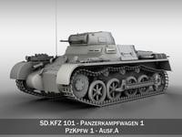 PzKpfw 1 - Panzer 1 - Ausf. A 3D Model