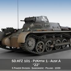 PzKpfw 1 - Panzer 1 - Ausf. A - 22 3D Model