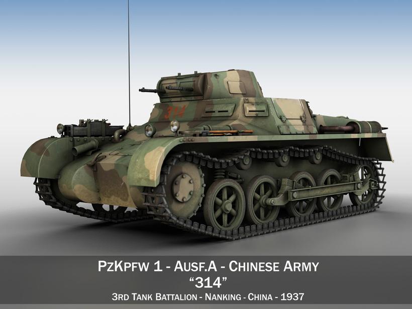 PzKpfw 1 - Panzer 1 - Ausf. A - China 3D Model