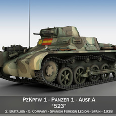 PzKpfw 1 - Panzer 1 - Ausf. A - Spainish Civil War 3D Model