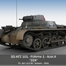 PzKpfw 1 - Panzer 1 - Ausf. A - 224 3D Model
