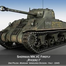 Sherman MK VC Firefly - Rycerz I 3D Model