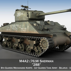 M4A2 Sherman - 288 - Russia 3D Model
