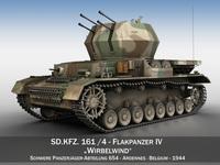 Flakpanzer IV - Wirbelwind - sPz.Jg.Abt.654 3D Model