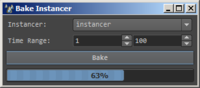 Bake Instancer 0.7.1 for Maya (maya script)