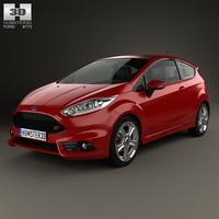 Ford Fiesta ST 3-door 2014 3D Model