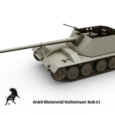 Ardelt-Rheinmetall Waffentrager KwK-43 3D Model