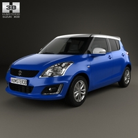 Suzuki Swift SZ-L hatchback 5-door 2014 3D Model