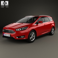 Ford Focus turnier 2014 3D Model