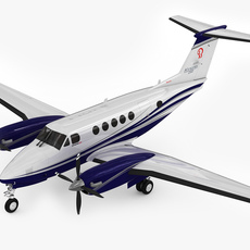 Beechcraft King Air 250 3D Model
