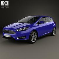 Ford Focus hatchback 2014 3D Model