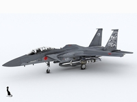 Mitsubishi F-15 DJ 3D Model