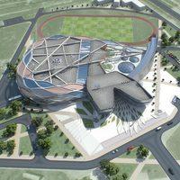 Sport Complex Exterior + Interiors 3D Model