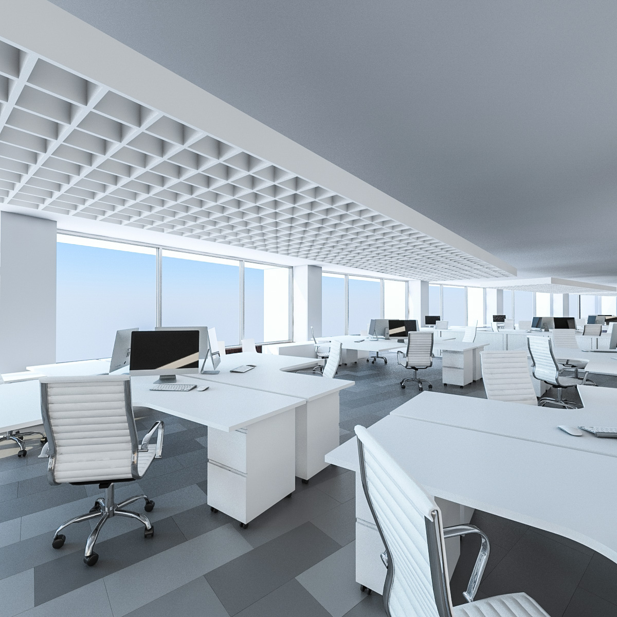 Office interior 3d model for Office design 3d