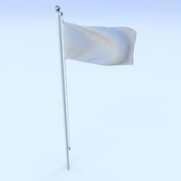 Animated Argentina Flag 3D Model