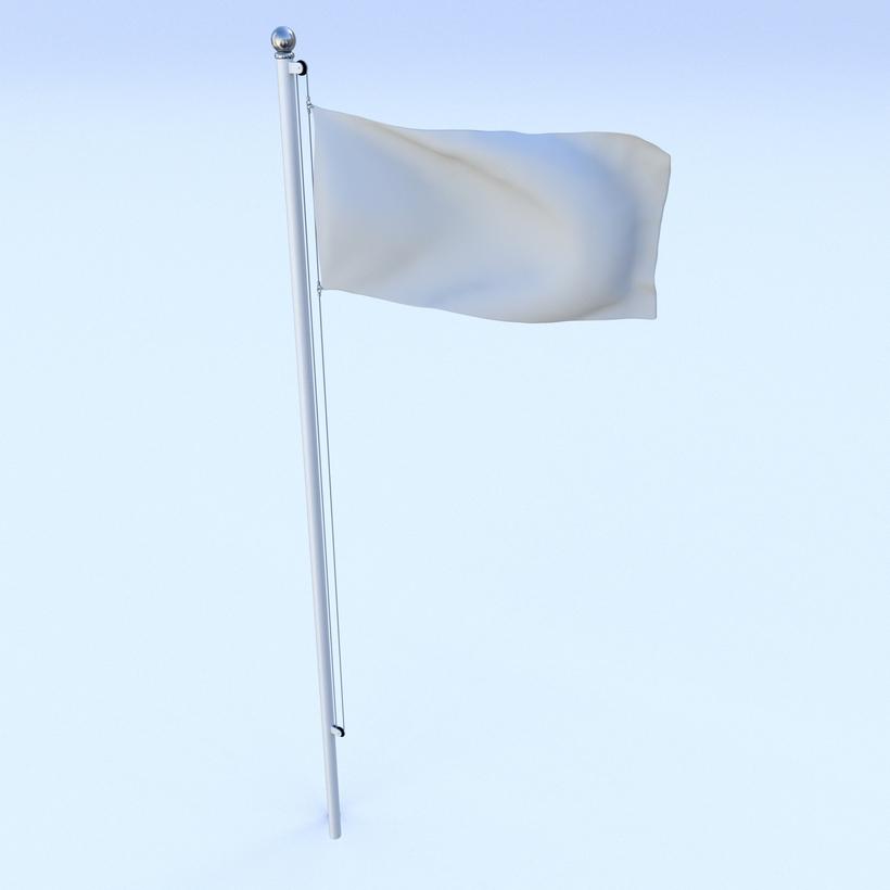 Animated Cyprus Flag 3D Model