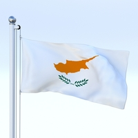 Animated Cyprus Flag 3D Model